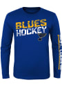 St Louis Blues Youth Break Lines T-Shirt - Blue