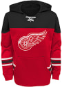 Detroit Red Wings Youth Freezer Hooded Sweatshirt - Red