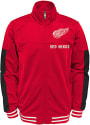 Detroit Red Wings Youth Goal Line Track Jacket - Red