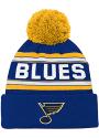 St Louis Blues Youth Wordmark Knit Hat - Blue