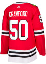 Corey Crawford Chicago Blackhawks Adidas Authentic Hockey Jersey - Red