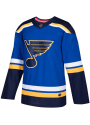 St Louis Blues Adidas Home Authentic Hockey Jersey - Blue