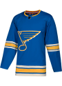 St Louis Blues Adidas Blank Authentic Hockey Jersey - Blue