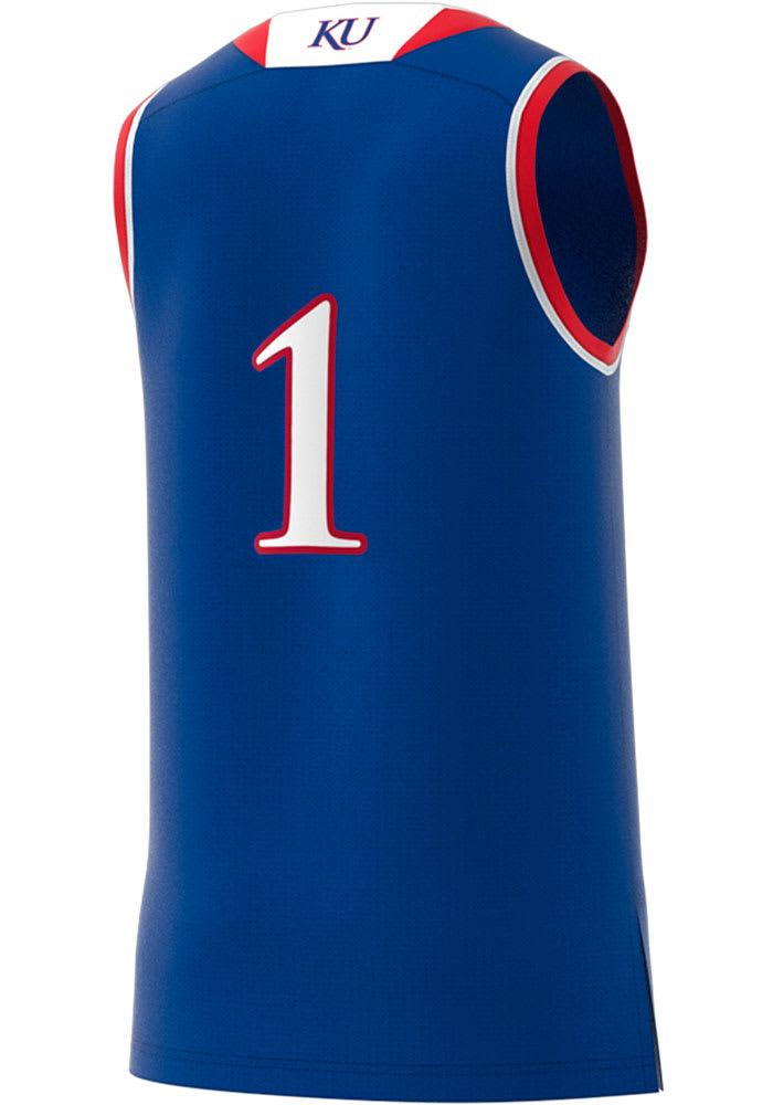 Adidas Kansas Jayhawks Replica Jersey - Blue