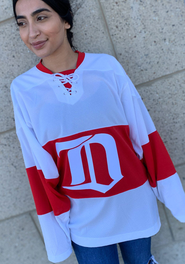 Adidas Detroit Red Wings Mens White Throwback Authentic Hockey Jersey