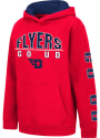 Dayton Flyers Youth Colosseum Karate Hooded Sweatshirt - Red