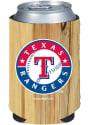 Texas Rangers Wood Grain Can Coolie