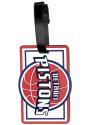 Detroit Pistons Rubber Luggage Tag - White