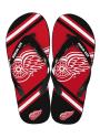 Detroit Red Wings Big Logo Flip Flops - Red