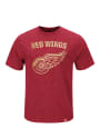 Majestic Detroit Red Wings Red Hours and Hours Fashion Tee