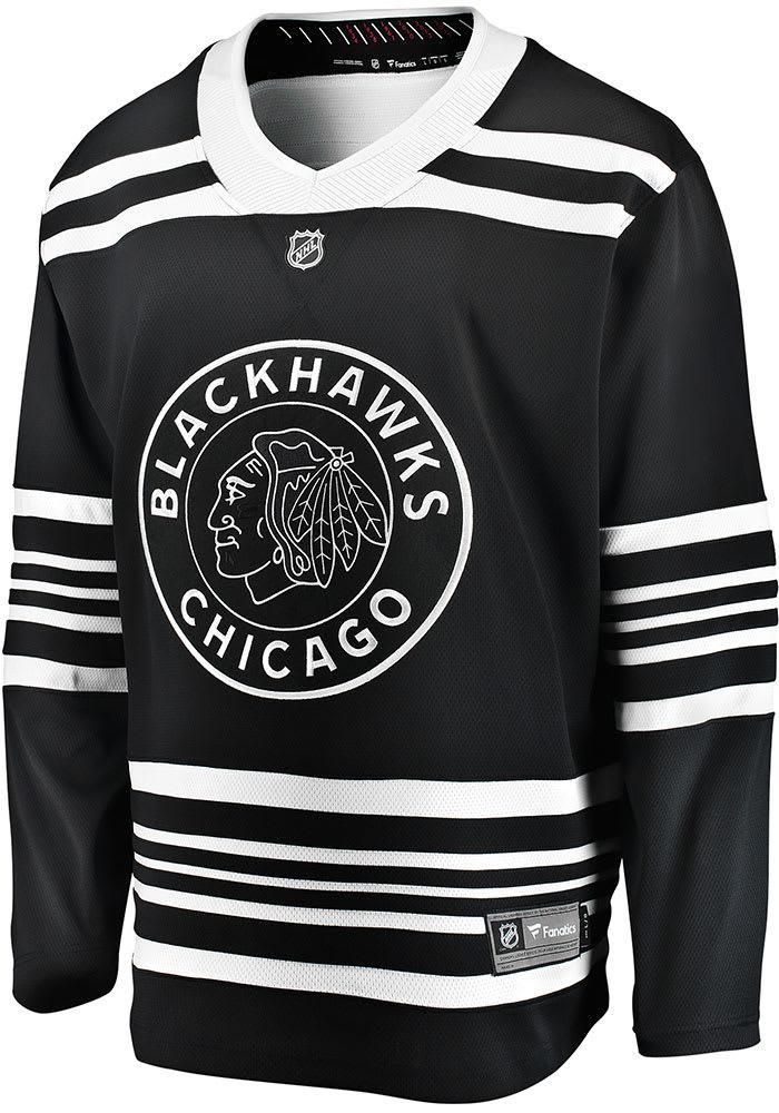 Chicago Blackhawks Mens Black 2019 Alternate Breakaway Hockey Jersey