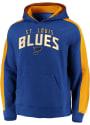 St Louis Blues Cotton Fleece Hooded Sweatshirt - Blue