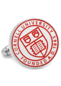 Cornell Big Red Silver Plated Cufflinks - Silver