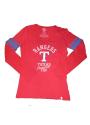 47 Texas Rangers Womens 3-Peat Scoop Neck Tee