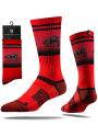 Strideline Drury Panthers Mens Red Split Crew Socks