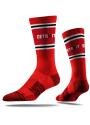 Strideline Detroit Mens Red Vivicolor Crew Socks