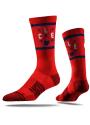 Strideline Cleveland Mens Red Arrow Crew Socks