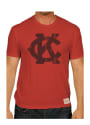 Original Retro Brand Kansas City Monarchs Red KC Logo Fashion Tee