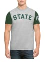 47 Michigan State Spartans Grey Triple Up Fashion Tee