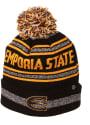 Emporia State Hornets Zephyr Jetty Cuff Pom Knit - Black