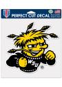 Wichita State Shockers 8x8 Color Auto Decal - Black