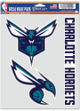 Charlotte Hornets Triple Pack Auto Decal - Blue
