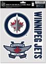 Winnipeg Jets Triple Pack Auto Decal - Blue