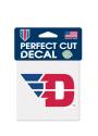 Dayton Flyers 4x4 Logo Auto Decal - Red