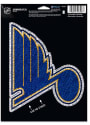 St Louis Blues Shimmer Auto Decal - Blue
