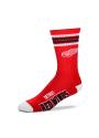 Detroit Red Wings Duece Four Stripe Crew Socks - Red