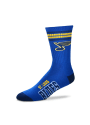 St Louis Blues Duece Four Stripe Crew Socks - Blue