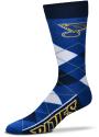 St Louis Blues Calf Logo Argyle Socks - Blue