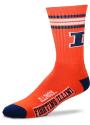 Illinois Fighting Illini 4 Stripe Deuce Crew Socks - Orange