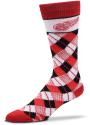 Detroit Red Wings Plaid Argyle Socks - Red
