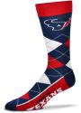 Houston Texans Team Logo Argyle Socks - Red