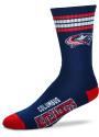 Columbus Blue Jackets 4 Stripe Deuce Crew Socks - Blue