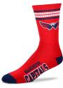 Washington Capitals 4 Stripe Deuce Crew Socks - Grey