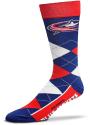 Columbus Blue Jackets Team Logo Argyle Socks - Blue