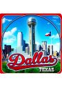 Dallas Ft Worth Coaster Magnet