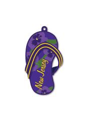 New Jersey Flip Flop Keychain