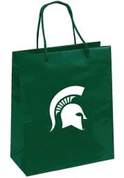 Michigan State Spartans 10x12 Green Medium Metallic Green Gift Bag