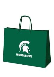 Michigan State Spartans 16x12 Green Large Metallic Green Gift Bag