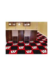 Wisconsin Badgers 18x18 Team Tiles Interior Rug