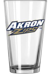 Akron Zips Primary Logo Pint Glass