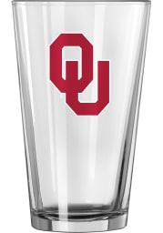 Oklahoma Sooners Interlocking OU Logo Pint Glass
