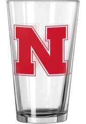 Nebraska Cornhuskers Block Pint Glass