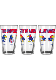 Kansas Jayhawks Evolution 16oz Pint Glass