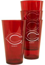 Cincinnati Reds 4pk 16oz Pints Plastic Drinkware