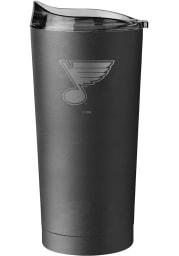 St Louis Blues 20oz Black Powder Coat Stainless Steel Tumbler - Black