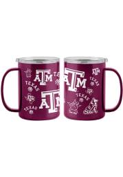 Texas A&M Aggies 15oz Sticker Ultra Mug Stainless Steel Tumbler - Maroon
